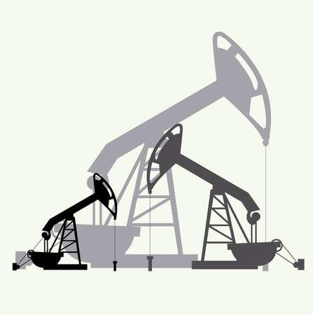 industria petrolera: Dise�o Industria Petrolera sobre fondo blanco, ilustraci�n vectorial