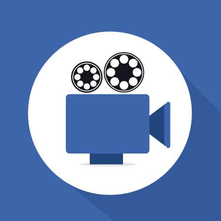 gadgets: Gadgets design over blue background, vector illustration Illustration
