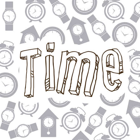 time over: Time design over white background, vector illustration