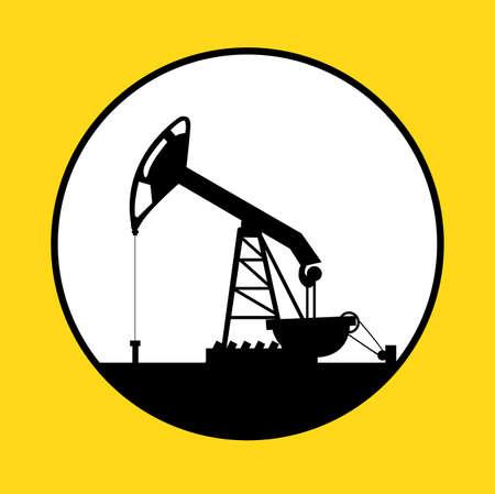 industria petrolera: Dise�o Industria Petrolera sobre fondo amarillo, ilustraci�n vectorial Vectores