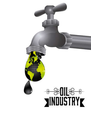 gas tap: Oil Industry design over white background, vector illustration