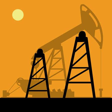 industria petrolera: Dise�o Industria Petrolera sobre fondo naranja, ilustraci�n vectorial