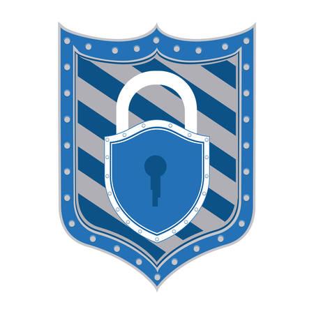 value system: Protection design over white background, vector illustration