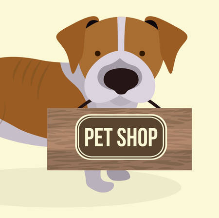 trusting: Pet design over pastel background,vector illustration Illustration