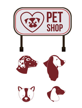 trusting: Pet design over white background,vector illustration