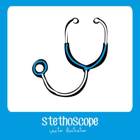 biomedical: Progettazione medica su sfondo blu, illustrazione vettoriale Vettoriali