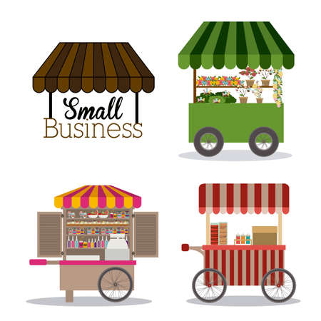 small business: Small business design over white background, vector illustration