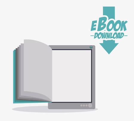 白い背景に、ベクトル図を電子ブック デザイン  イラスト・ベクター素材