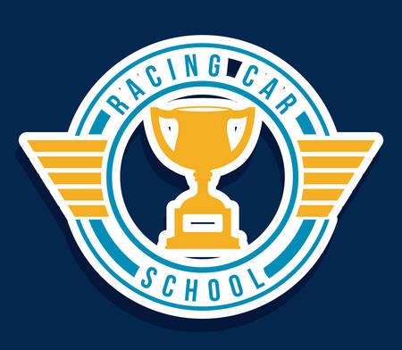 formula one: Racing design over blue background, vector illustration