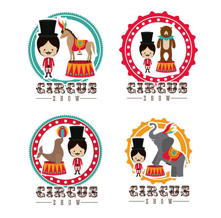 circus performer: Circus design over white background, vector illustration