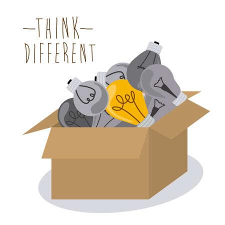 Think different design over white background, vector illustration