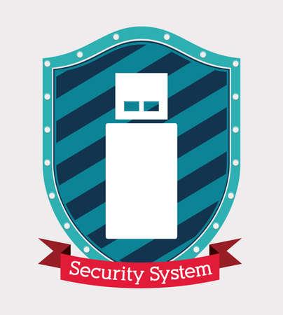 Protection design over white background, vector illustration