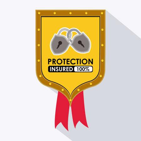 dangerous ideas: Protection design over white background, vector illustration