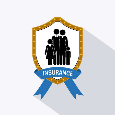 family policy: Protection design over white background, vector illustration