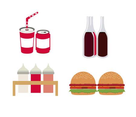 Restaurant design over white background, vector illustration Vector