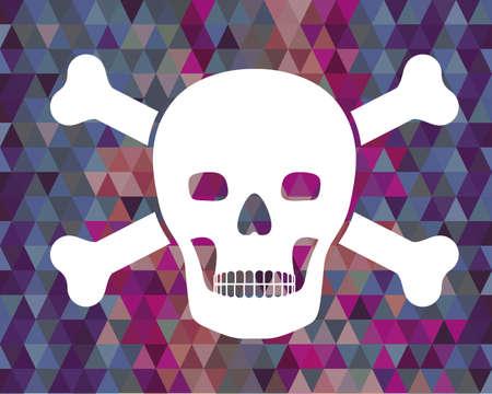 Computer worm design colored  background, vector illustration