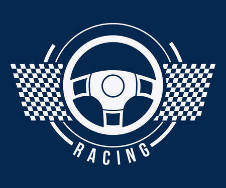 formula one racing: Racing design over blue background, vector illustration