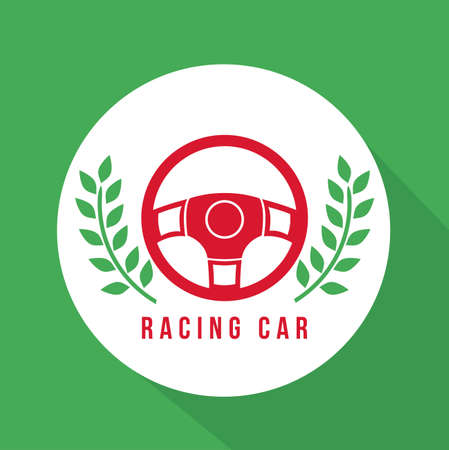 formula one racing: Racing design over green background, vector illustration