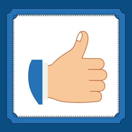 using senses: Hands gesture design over blue background, vector illustration