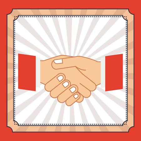 using senses: Hands gesture design over red background, vector illustration