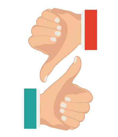 using senses: Hands gesture design over white background, vector illustration Illustration