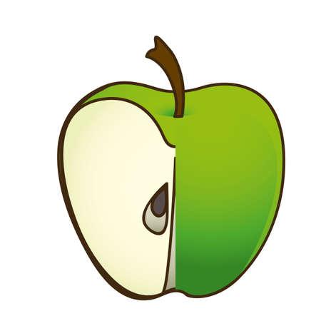 Fruit design over white background, vector illustration Illustration