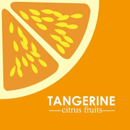 market gardening: Fruit design over orange background, vector illustration