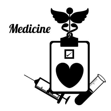 historia clinica: Dise�o m�dico sobre el fondo blanco, ilustraci�n vectorial Vectores