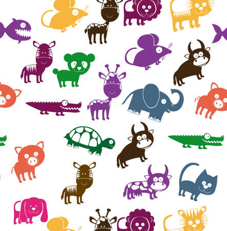 wildlife reserve: Animals design over white background, vector illustration