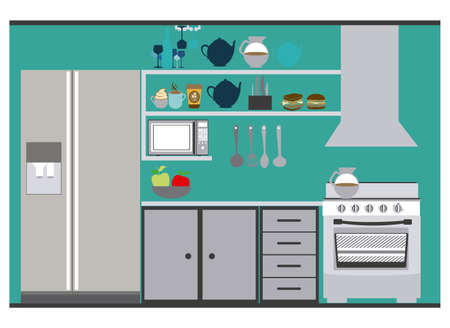 areas: House areas design over white background, vector illustration Illustration