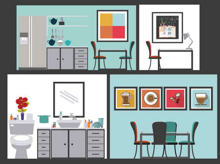 areas: House areas design over grey background, vector illustration Illustration
