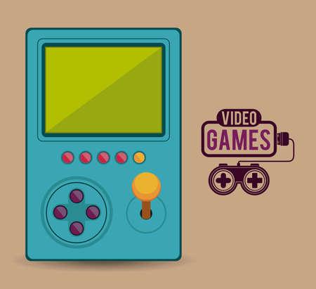 Video Games design over pastel background, vector illustration Vector