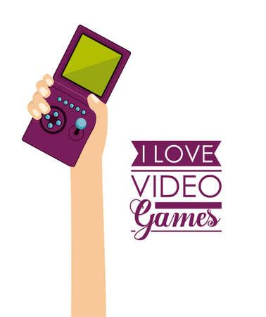 Video Games design over white background, vector illustration Vector