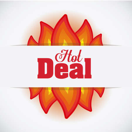 hot deal: Hot deal design over white background, digitally generated image