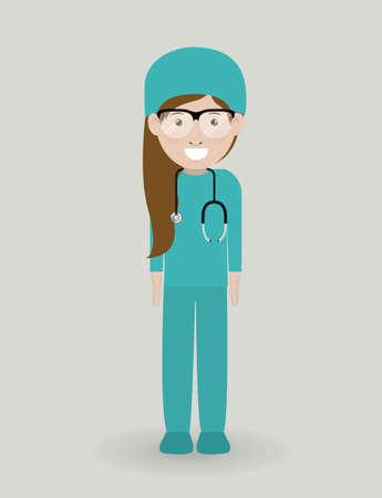 mentors: Doctor  design over grey background, vector illustration