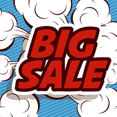 art product: Big sale design over pointed background, vector illustration