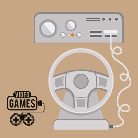 videogame: Video Games design over pastel background, vector illustration