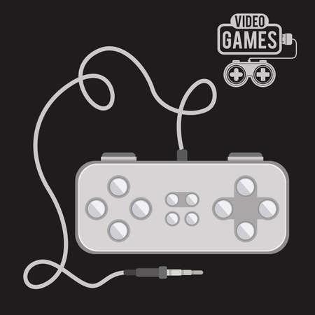 Video Games design over black background, vector illustration Vector