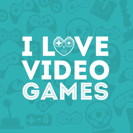Video Games design over blue background, vector illustration Vector