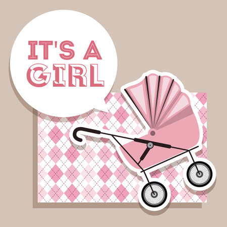 sweet background: Baby shower design over pastel background, vector illustration Illustration