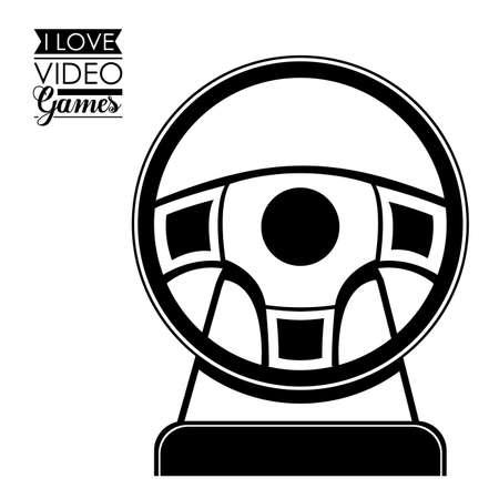 videogame: Video Games design over white background, vector illustration