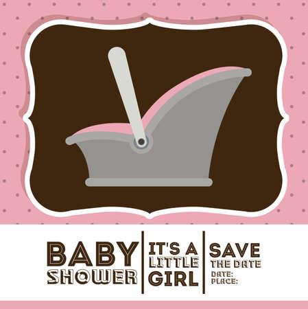 traditional background: Baby shower design over pastel background, vector illustration Illustration