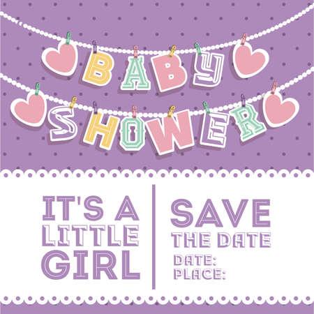 Baby shower design over white background, vector illustration