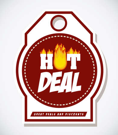 digitally generated image: Hot deal design over white background, digitally generated image