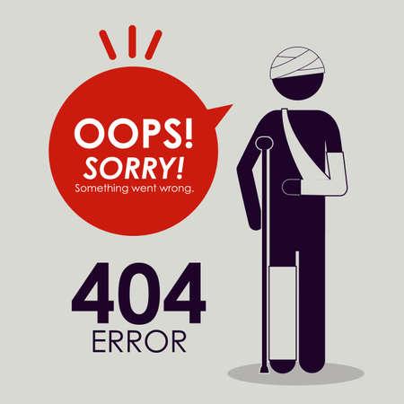 error: Error design over grey background, vector illustration