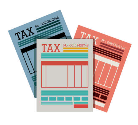 tax accountant: Tax design over white background, vector illustration Illustration