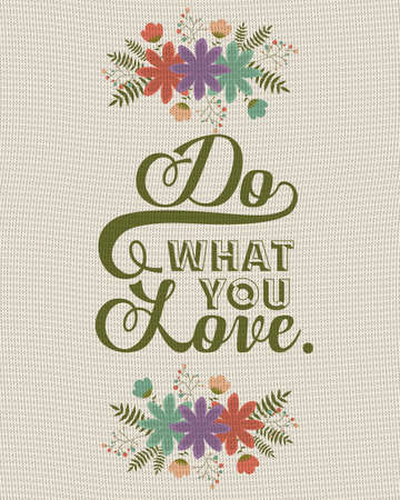 positivity: Attitude phrase design over pattern background, vector illustration Illustration