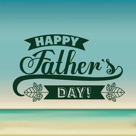 happy holidays card: fathers day design over colored background, vector illustration