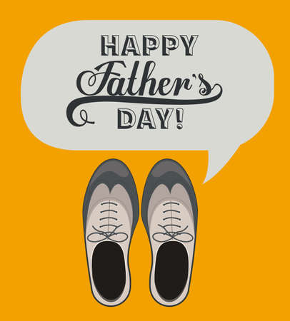 fathers day background: fathers day design over orange background, vector illustration