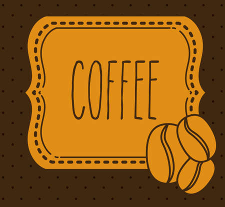 coffee crop: Cook icon design over brown background, vector illustration